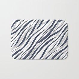 Abstract grey white pattern . Bath Mat