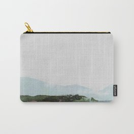 Mountain Vista with Big Sky and River, Winterscape Carry-All Pouch