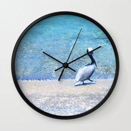 Strutting Pelican Wall Clock