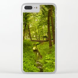 Green Spring Trees Clear iPhone Case