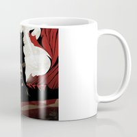 man of steel Mugs featuring MAN OF STEEL by Taylor Callery Illustration