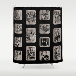 Some Sin To This City Shower Curtain