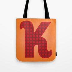 Alphabet K Tote Bag