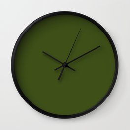 Dark Olive Green Sage - Accent Color Decor - Lowest Price On Site Wall Clock