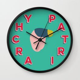 Patriarchy Exists/Resist Wall Clock