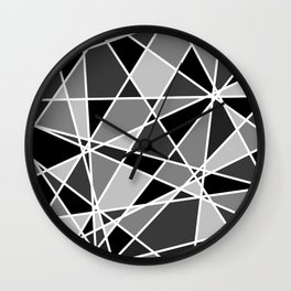 Shattered Charcoal Wall Clock