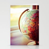 globe Stationery Cards featuring Globe  by Jo Bekah Photography