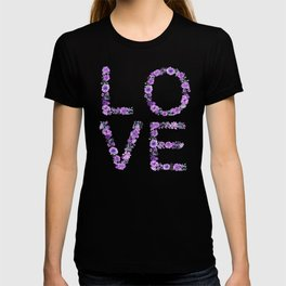 Floral Love Lilac Flowers T-shirt