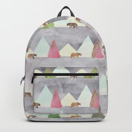 Bear in the Forest Rustic Cabin Theme Backpack