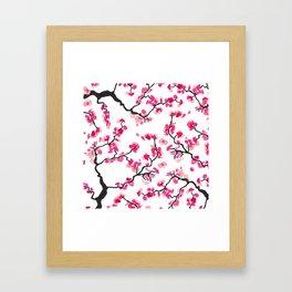 Japanese Cherry Blossoms Framed Art Print