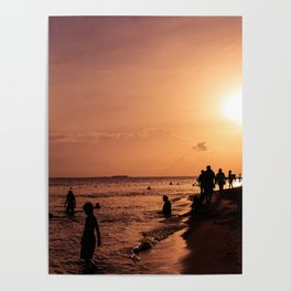 Sunset in Isla Muejres Poster
