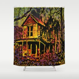 Happy Haunted House Shower Curtain