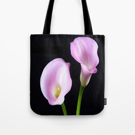 Dance Of Two Pink Calla Lilies Tote Bag