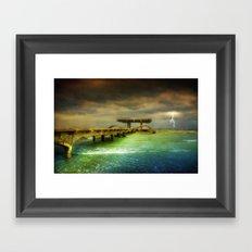 Sea @ Storm Framed Art Print