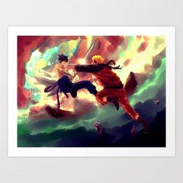 NARUTO-katana confrontation Art Print
