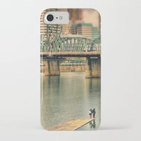 portlandia iPhone & iPod Cases featuring Lovers Under the Bridge by Danielle Denham
