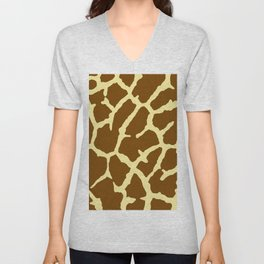 Giraffe Print Unisex V-Neck