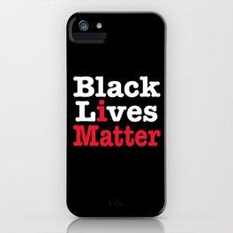 BLACK LIVES MATTER (inverse version) iPhone Case