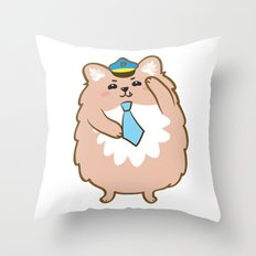 Animal Police - Pomeranian Throw Pillow