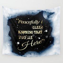 Peacefully i Sleep Wall Tapestry