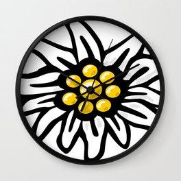 Edelweiss Flower Wall Clock