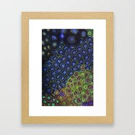 """Macro of Coral Zoanthus """"Blue Hornet"""" Framed Art Print"""