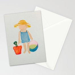 Toddies Summer Beach Holiday Baby Girl Stationery Cards