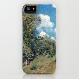 Alfred Sisley The Road from Versailles to Saint-Germain iPhone Case