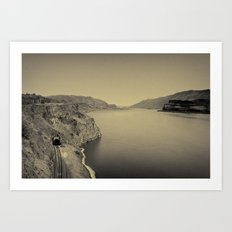 Columbia River Art Print