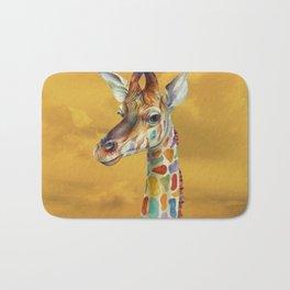 Giraffe and Butterfly Bath Mat