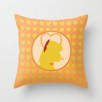 sailor venus Throw Pillows featuring Sailor Venus by Valerie C. Salmon