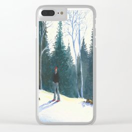 Red Beanie Clear iPhone Case