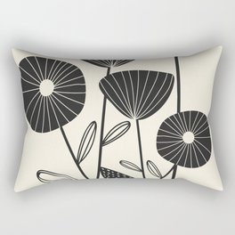 Abstract Flowers Rectangular Pillow