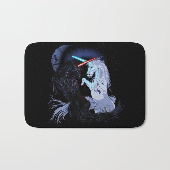 Starwars with unicorns (black) Bath Mat