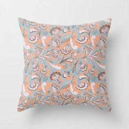 Folklore Pattern Shawl Throw Pillow