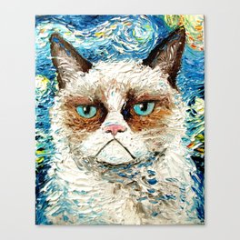 Grumpy Cat Is Still Grumpy Canvas Print