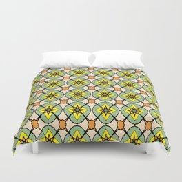 Green X O Duvet Cover