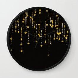 Golden Stars -Dream- Wall Clock