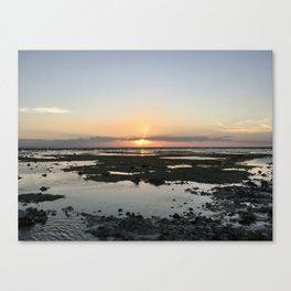 Sunset Rocks at Gili Trawangan Island | Travel photography Indonesia | Adventure in Asia Canvas Print