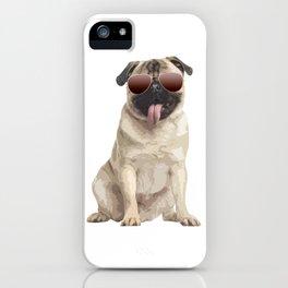 Cool pug iPhone Case