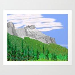 Mount Rundle (North Peak) Art Print