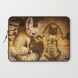 Fennec and Cat Laptop Sleeve