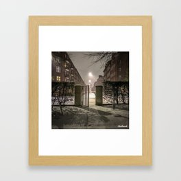 Winter is apparently already here Framed Art Print