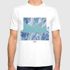 Falling. Mens Fitted Tee MEDIUM White
