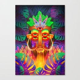 Melt Tiki Head Canvas Print