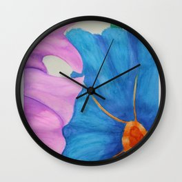 Dual Hibiscus Wall Clock