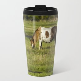 Pinto Mare with the Copper Colored Mane No. 1 - Chincoteague Ponies Assateague Horses Travel Mug