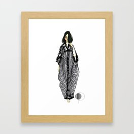 Her Kaftan Framed Art Print