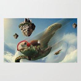 Flying turtle Rug