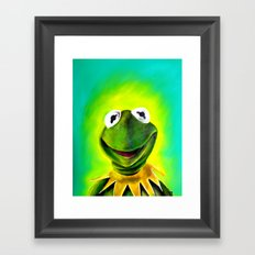 The Muppets- Kermit the Frog Framed Art Print